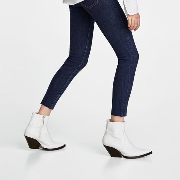 White Cowboy Ankle Boots | Poshmark